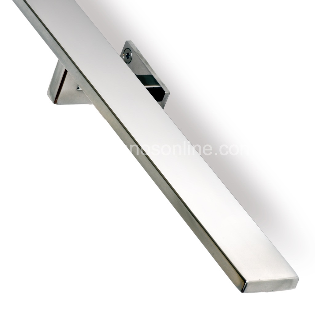Pasamano de acero inoxidable rectangular 4x1 cm