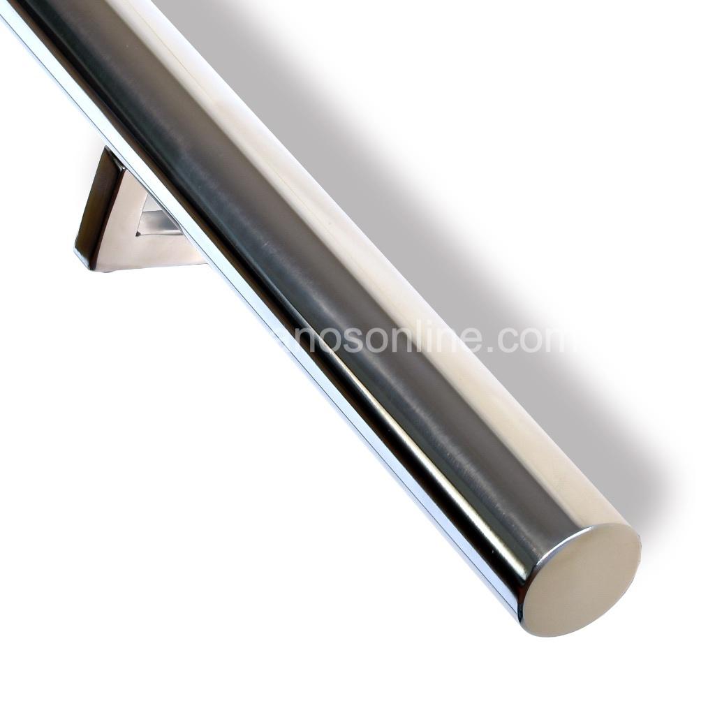 Pasamano de acero inox redondo  4.3cm