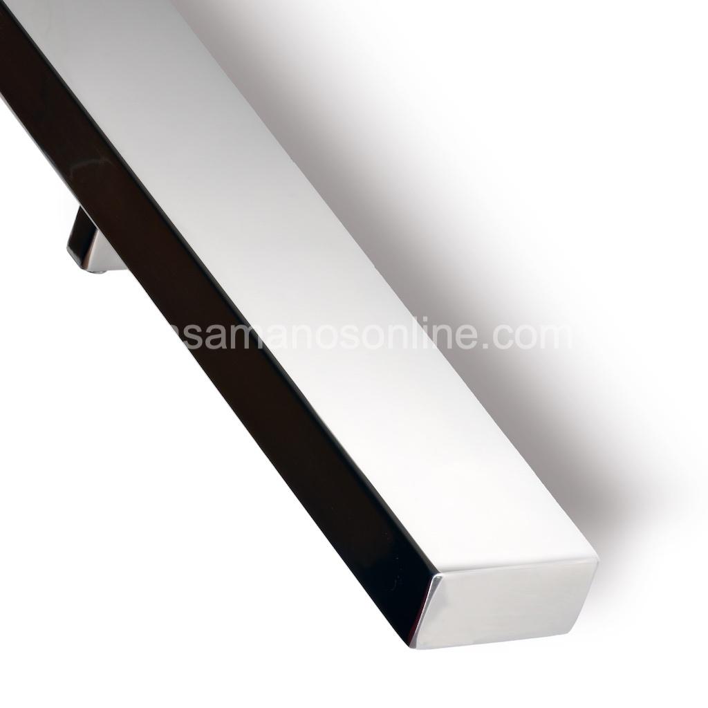 Pasamano de acero inoxidable rectangular 6x3 cm