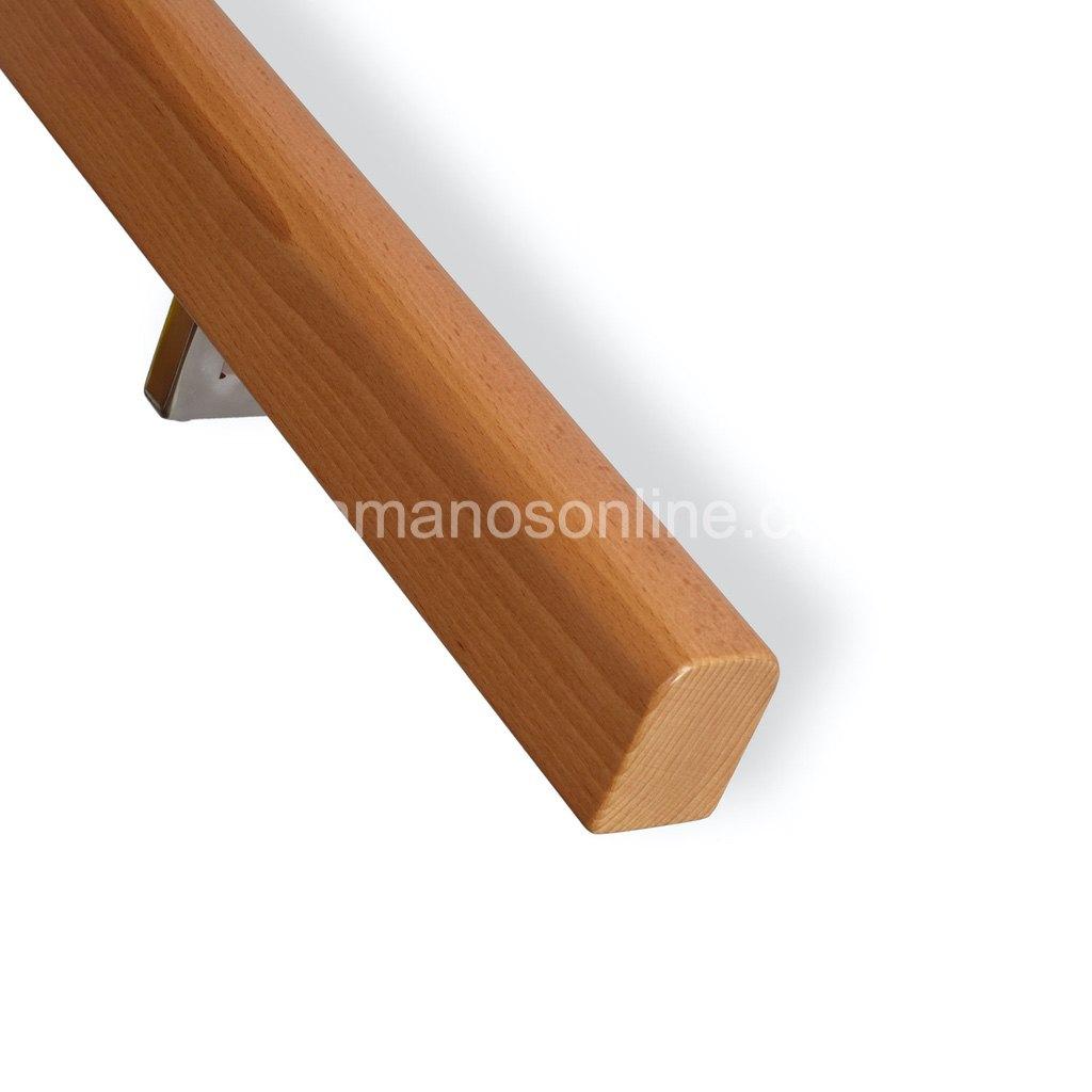Pasamano de madera rectangular 3,7x5,3cm