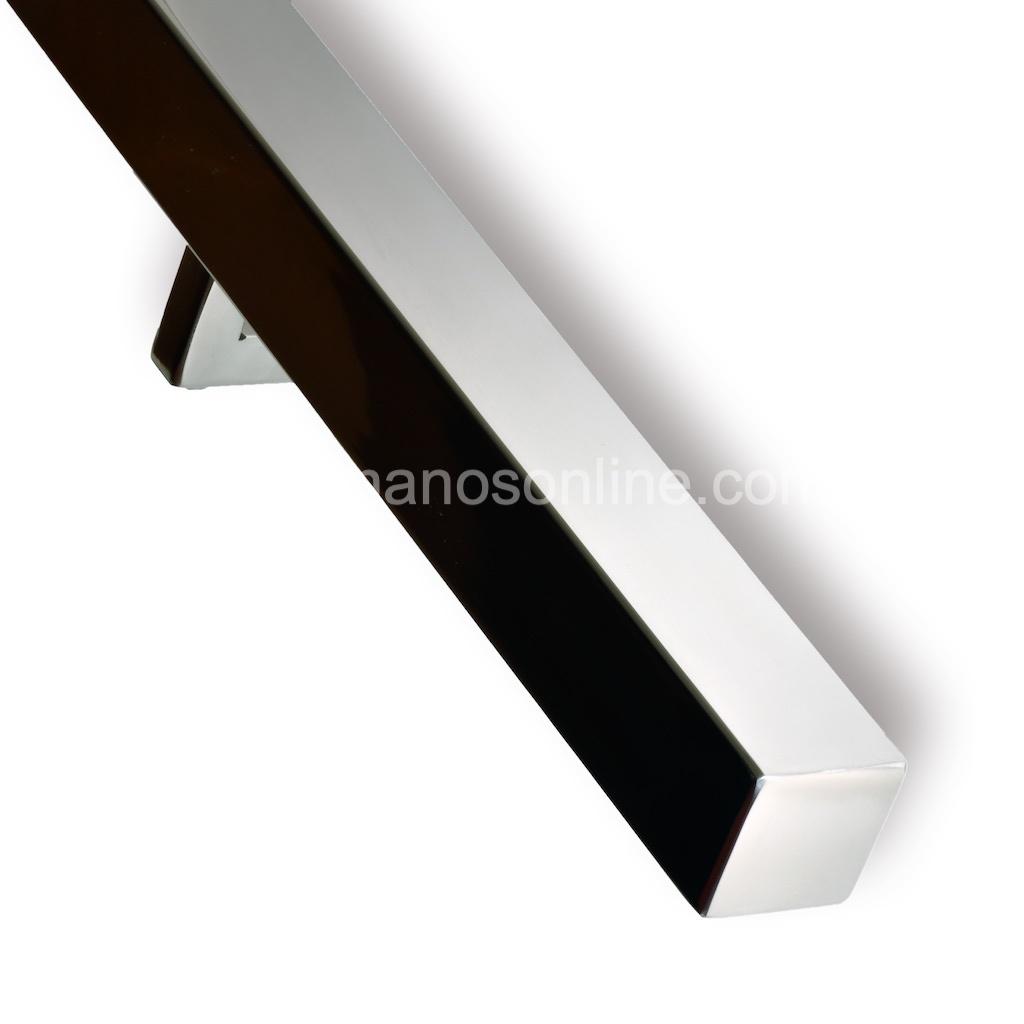 Pasamano de acero inoxidable cuadrado 4x4 cm